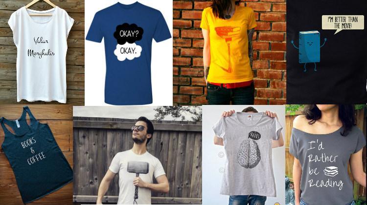 30 camisetas de literatura increíbles